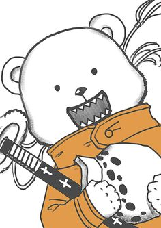 Pixiv Id 1417939, ONE PIECE, Bepo, Holding Object, Bear