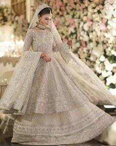 Indian/Pakistani Women's Bridal Weeding Engagement Gown Walima Dress Nikah New Asian Bridal Dresses, Pakistani Wedding Outfits, Indian Bridal Outfits, Pakistani Bridal Dresses, Pakistani Wedding Dresses, Pakistani Dress Design, Walima Dress, Pakistani Suits, Lengha Dress
