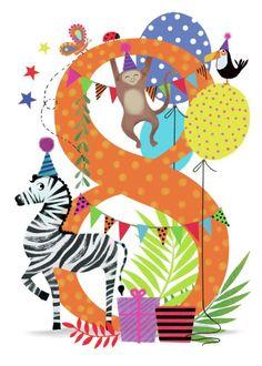 Leading Illustration & Publishing Agency based in London, New York & Marbella. Cute Birthday Quotes, Happy Birthday My Love, Birthday Wishes Funny, Birthday Posts, Happy Birthday Pictures, Happy Birthday Messages, Kids Birthday Cards, Birthday Numbers, Art Birthday
