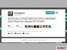 You stay classy, Chris Brown.