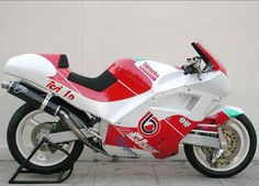 1992 Bimota Tesi TD1 Bimota Tesi TD1 This example was prepared at the Bimota factroy and fielded by them in the 1992 Italian SBK Championship with Italian rider Marco Risitano in the saddle. A Ducati 888R vee twin power plant comforming to the Championships regulations was employed. More Bimota Tesi info....  Image provided by www.classic-auctions.com.