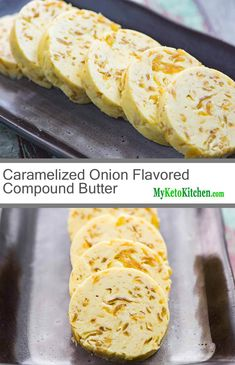 Compound Butters are a great way to enhance flavor and add extra fat. Our Caramelized Onion Flavored Compound Butter is delicious atop a grilled steak. Flavored Butter, Homemade Butter, Butter Recipe, Low Carb Recipes, Cooking Recipes, Vegan Recipes, Cooking Tips, Quick Recipes, Cetogenic Diet