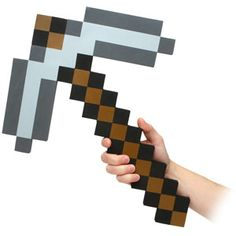Roleplaying Foam Pickaxes from the online Minecraft game. Full size Minecraft Diamond Pickaxe made of heavy EVA foam.The Minecraft . Minecraft Party, Minecraft Toys For Kids, Minecraft Stuff, Minecraft Iron, Minecraft Crafts, Minecraft Costumes, Minecraft Sword, Minecraft Skins, Minecraft Buildings