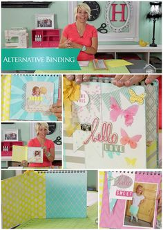 #HeidiSwapp Alternative Binding Technique on Create to Remember at #MyCraftChannel