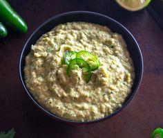 Jalapeno Hummus, Avocado Hummus, Chickpea Hummus, Hummus Recipe, Canned Chickpeas, Good Food, Fun Food, Appetisers, Mexican Dishes