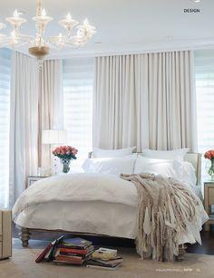 cortinas detrás de la cama...por qué no?