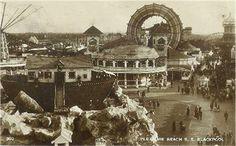 Old Postcard, Blackpool, Lancashire, Pleasure Beach