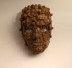 """""""The Corker"""", portrait from used wine corks cm) Cork Art, Wine Cork Crafts, Cork Ideas, Wine Corks, Puppet, Projects, Costume, Portrait, Home"""