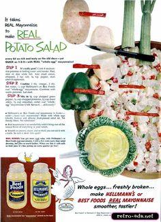 1954 Hellmann's Mayonaise Ad