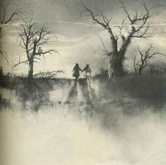 "Stephen Gammell Illustrations ""Scary Stories to tell in the Dark"""