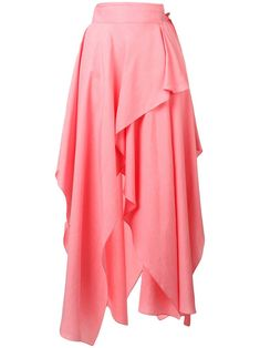 Shop online pink JW Anderson Bubblegum Handkerchief Skirt as well as new season, new arrivals daily. Handkerchief Skirt, Culottes, Asymmetrical Skirt, Elegant Outfit, Wrap Style, Chambray, Casual Wear, Midi Skirt, Women Wear