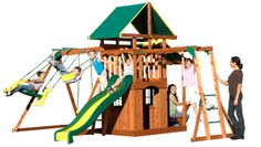 Backyard Discovery Playset - Meridian Cedar Swing Set, Price: $999.00  (Current Special Price of $699.00!)