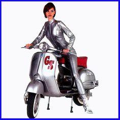 sexy scoot section Moto Scooter, Best Scooter, Lambretta Scooter, Vespa Scooters, Vespa Motorcycle, Scooter Images, Vespa Vintage, Vintage Ads, Motos Vespa