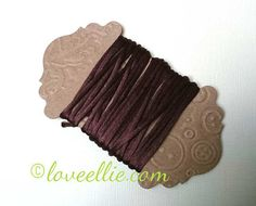 Satin Rattail Cord - Chocolate Brown 2mm cord - Minimum three (3) Metres - Shamballa Macrame Beading kumihimo Stringing Knotting Cord Thong by LoveBagMaking Find it now at http://ift.tt/2yRTNNQ!
