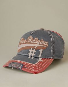 Mens True Religion Script Logo Baseball Cap - (Navy) | True Religion Brand Jeans
