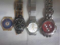4 Orologi di cui: 1 Orient  Date 21 jewels funzionante +1Lancaster Crono Date +1 Swatch Date+ 1 Swatch anni 90 da riparare di affaryonline su Etsy