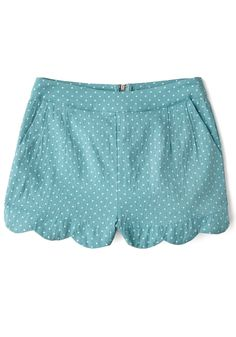 Darling Day Away Shorts in Turquoise Dots, @ModCloth