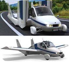 This flying car is actually legal to drive on the street and it will cruise at speeds up to 65 MPH. What's even more amazing is that this car will turn into a flying craft when you are ready to press the button that activates the wings into position.