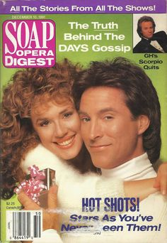 classicsodcovers: Classic SOD Cover Date: December 10, 1991 Staci Greason & Drake Hogestyn (Isabella & Roman II/John, DAYS OF OUR LIVES)(inset) Tristan Rogers (Robert, GENERAL HOSPITAL)