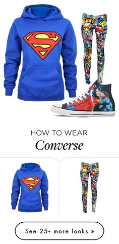 """SUPERMAN"" by garryv on Polyvore featuring Converse Super Hero Outfits, Cool Outfits, Casual Outfits, Summer Outfits, Nerd Fashion, Cute Fashion, Fashion Outfits, Superman Outfit, Super Moda"