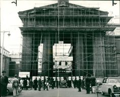 Euston Arch, London   protest of its pending demolition.