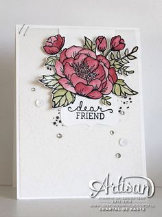 Love for Stamping, Artisan Design Team, Birthday Blooms, Botanical Gardens Designer Vellum, Wink of Stella - Chantal de Kaste