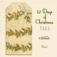 Day 2 free Christmas Tags http://callmevictorian.com/1003/12-days-of-christmas-tags-day-2/