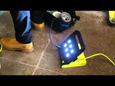 ▶ ••PowerShell•• Folding work light: compact  portable LED + with three power outlet • innovative products by Peter Goncalves for Quirky • $60