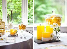 inspirace svatební tabule - svíčky