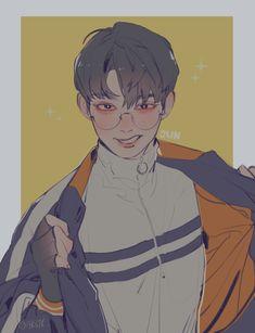 Kpop Drawings, Art Drawings, Pretty Art, Cute Art, M Anime, Dibujos Cute, Boy Art, Art Reference Poses, Character Design Inspiration