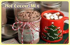 Double Chocolate Hot Cocoa Mix--With Gift Jar Tags! This website is amazing full of yummy recipes