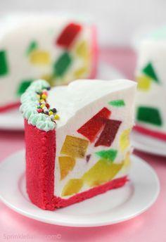 crown jewel cake aka broken glass cake...look so pretty!