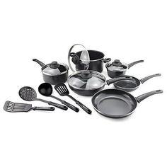 Ceramic Nonstick Cookware Set Kitchen Cooking Frying Pans Pods Lids 14 Pieces #CookwareSets