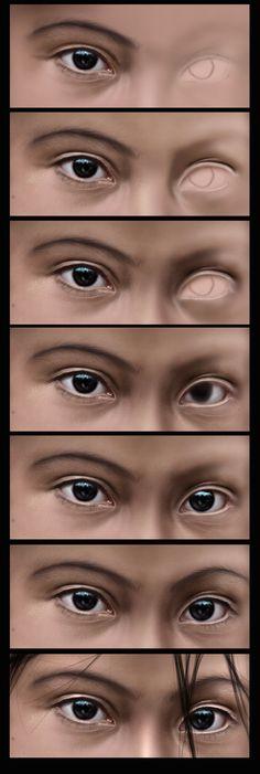 realism steps by castrochew on DeviantArt