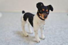 Personalized Custom Pet #Replica Needle by #JanetsNeedleFelting #RatTerrier #Terrier #handmadegift