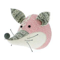 Fiona Walker Patchwork Felt Fox Animal Head