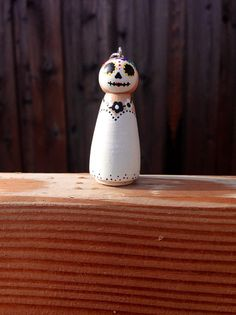 Dia de los Muertos Day of the Dead peg doll ornament by MamaSkids
