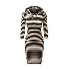 Rotita Long Sleeve Stripe Print Bodycon Dress ($25) ❤ liked on Polyvore featuring dresses, black, black mini dress, long-sleeve mini dress, mini dress, black collared dress and sheath dress
