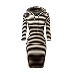 Rotita Long Sleeve Stripe Print Bodycon Dress (33 AUD) ❤ liked on Polyvore featuring dresses, tops, black, print dress, mini dress, striped mini dress, body con dress and bodycon mini dress