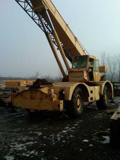$32000.00 1982 Grove RT65S Rough Terrain Hydraulic Boom Crane (4WD) 35 Ton Capacity, CAT 3208 Engine, Boom Length: 33'-112' Outrigger Cylinder for Front Right Down Rigger Replaced 2012 Used Construction Equipment, Oil Field, Golden Gate Bridge, Crane, Engineering, Photos, Pictures, Photographs, Mechanical Engineering