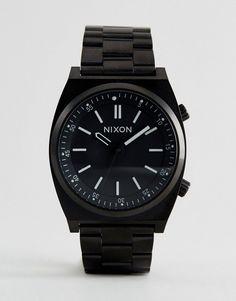 Nixon Brigade Bracelet Watch In Black - Black