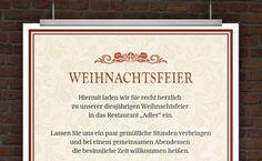 11 best Weihnachtsfeier Einladungen Vorlagen images on Pinterest in ...
