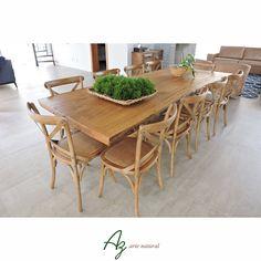Mesas de jantar em madeira maciça fabricadas sob pedido e sob medida! Az arte natural - Móveis em madeira feitos a mão