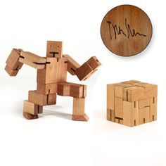 Unique Wooden Robot Toys for Kids and Children Design Ideas by David Weeks - Extra Large Cubebot