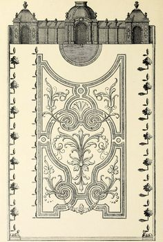 Design for a Jardin à la Française, France