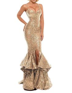 66bc7af8312 NAME YOUR OWN PRICE -Scarisee Sweetheart Sequins Mermaid Evening Prom Party  Dresses Split TieredSA124