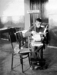 #abacus ! #sliderule ! #pileofbooks ! #greathaircut! W. Kuybyshev, Russian Chemical Engineer 1936 (Kuibyshev Industrial Institute)