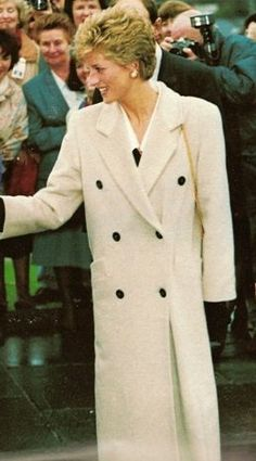 December 8, 1993: Princess Diana visits Ulster hospital in N. Ireland as she prepares to scale down her public role for the following year.