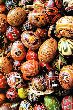 Ukrainian easter eggs-years ago I took a class on doing this -I need to pull out my tools!