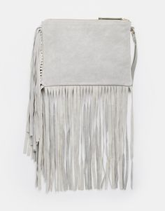 ASOS Suede Fringed Clutch Bag